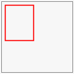 wireframe red rectangle with line width = 3 pixels
