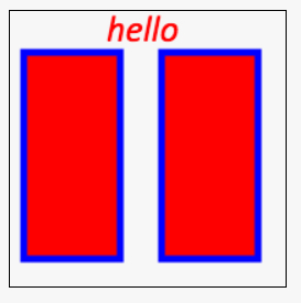 rectangles and text that shares colors