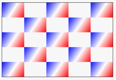 chessboard with individual gradient for each cell