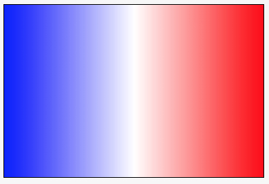 linear gradient from blue to white to red, left to right
