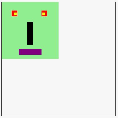 monster made of rectangles