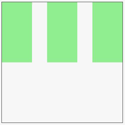 3 green rectangles