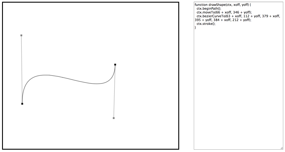 bezier curves code generator