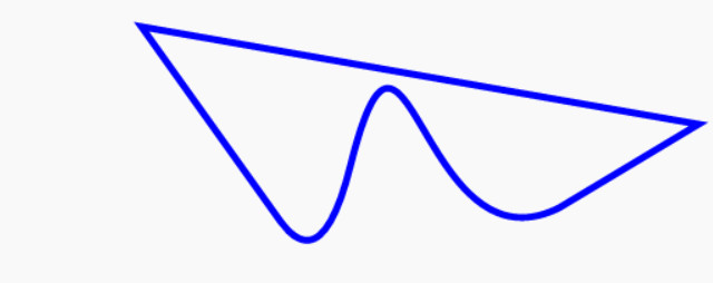path with bezier curve, quadratic curve and line in the same, closed path